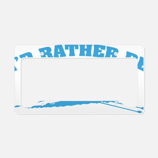 ratherbeRowing3 License Plate Holder