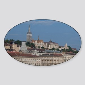 Budapest. Early morning view from P Sticker (Oval)