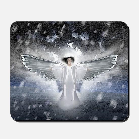 snowangel2sq Mousepad