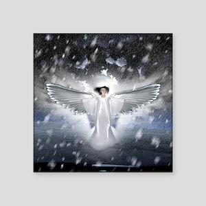 """snowangel2sq Square Sticker 3"""" x 3"""""""