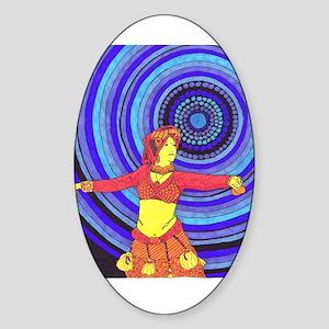 Desert Dancer Oval Sticker