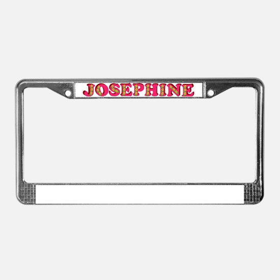 josephine-g-woodcut License Plate Frame