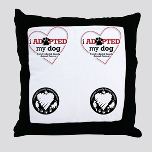 I Adopted Dog Frederick MD Throw Pillow