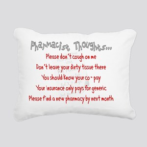 Pharmacist Thoughts Rectangular Canvas Pillow