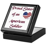 Proud Sister/Soldier Tile Keepsake Box