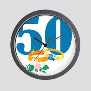 RingsFloral50 Wall Clock