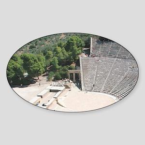 Greek Art. Epidaurus Theater by Pol Sticker (Oval)