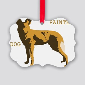 wild dog text Picture Ornament