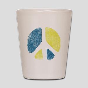 vintage-peace-sign Shot Glass