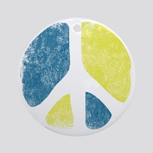 vintage-peace-sign Round Ornament