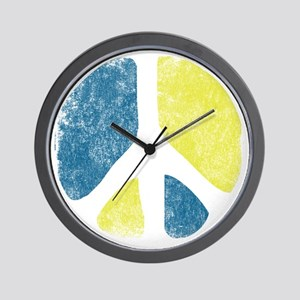 vintage-peace-sign Wall Clock