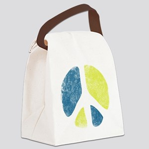 vintage-peace-sign Canvas Lunch Bag