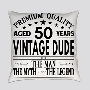VINTAGE DUDE AGED 50 YEARS Everyday Pillow