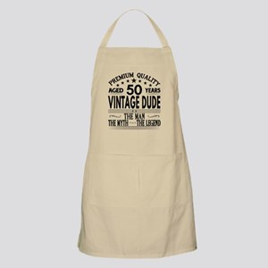 VINTAGE DUDE AGED 50 YEARS Light Apron