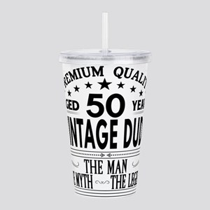 VINTAGE DUDE AGED 50 YEARS Acrylic Double-wall Tum