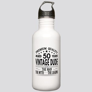VINTAGE DUDE AGED 50 YEARS Water Bottle
