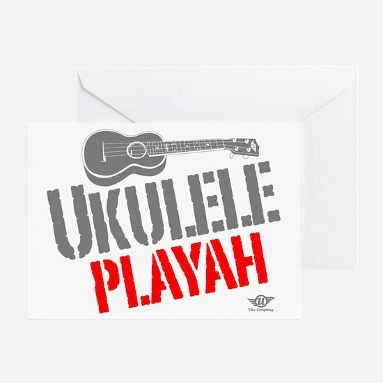 Ukulele Playah Greeting Card