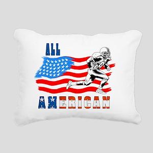 All American Football pl Rectangular Canvas Pillow