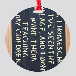 homeschool-ipad-case Round Ornament