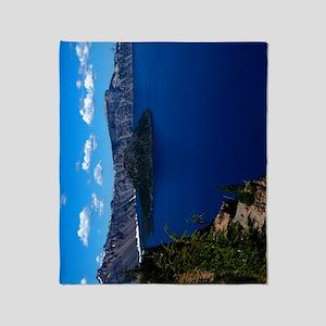 (12p) Crater Lake  Wizard Island Throw Blanket