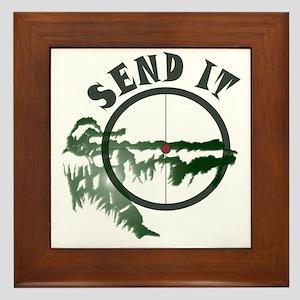 Send it Framed Tile