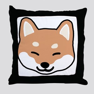 shibaface2 Throw Pillow