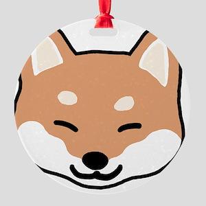 shibaface2 Round Ornament