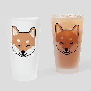 shibaface2 Drinking Glass