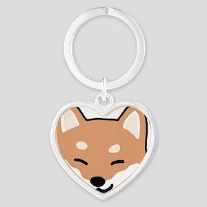shibaface2 Heart Keychain