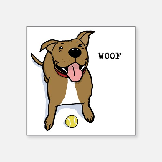 "woofteeRB Square Sticker 3"" x 3"""