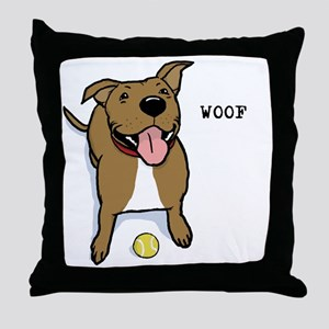 woofteeRB Throw Pillow