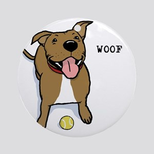 woofteeRB Round Ornament