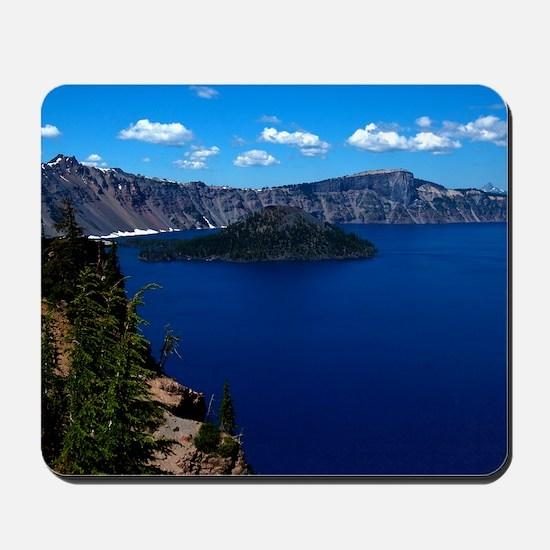 (12) Crater Lake  Wizard Island Mousepad