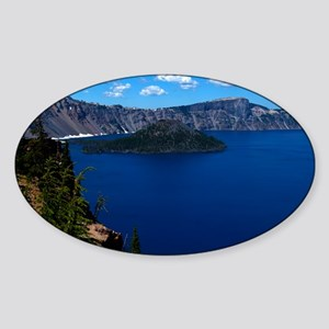(12) Crater Lake  Wizard Island Sticker (Oval)