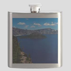 (12) Crater Lake  Wizard Island Flask