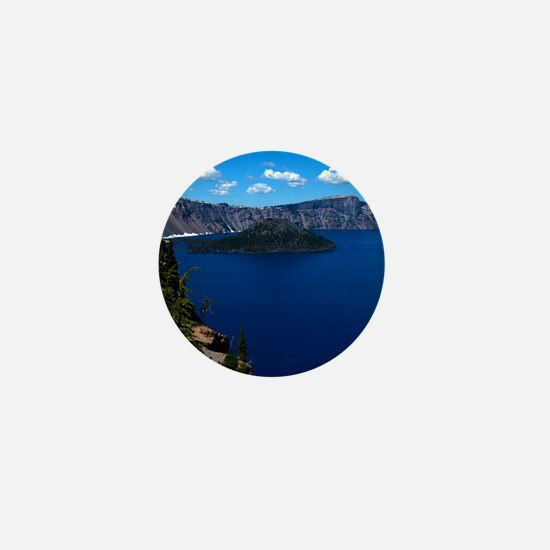 (12) Crater Lake  Wizard Island Mini Button