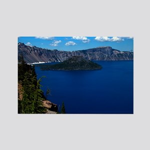 (12) Crater Lake  Wizard Island Rectangle Magnet