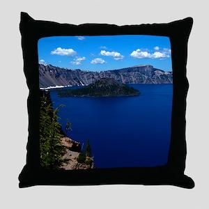 (12) Crater Lake  Wizard Island Throw Pillow