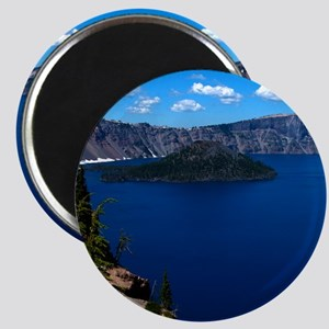 (12) Crater Lake  Wizard Island Magnet