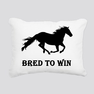 bred to win Rectangular Canvas Pillow