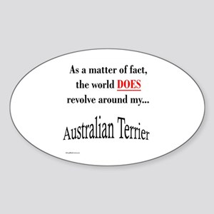 Australian Terrier World Oval Sticker