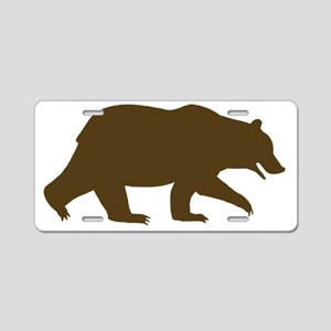 grizzlybrown Aluminum License Plate