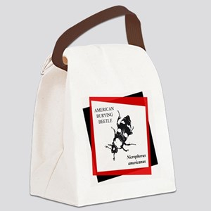 ABB stamp with red copy Canvas Lunch Bag