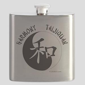 Harmony Taijiquan White Tee Shirt Flask