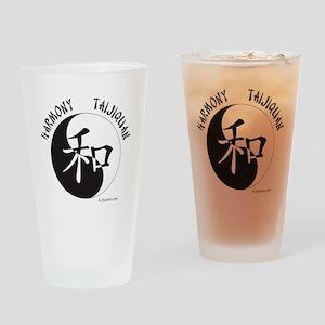 Harmony Taijiquan White Tee Shirt Drinking Glass