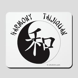 Harmony Taijiquan White Tee Shirt Mousepad