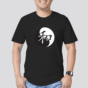 Harmony Taijiquan Whit Men's Fitted T-Shirt (dark)