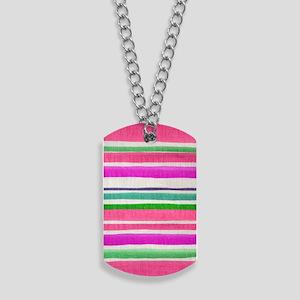 443 Stripes Pink Dog Tags
