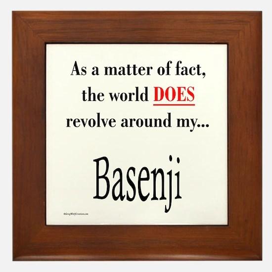 Basenji World Framed Tile