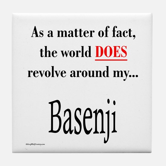 Basenji World Tile Coaster